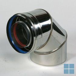 Ubbink inox bocht 90° inox/inox dia 80/125 | UBB702267 | LAMO