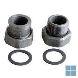 Grundfos raccord paar koppelingen gietijzer 5/4 m x 6/4 f (prijs per 2 stuks) | UR54M | LAMO