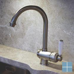 Kvr retro keukenmengkraan nikkel mat | V1921NM | LAMO