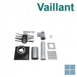 Vaillant ecocraft aansluitset voor de rookgasafvoer via schouw PP Ø 130mm | VAI0020042762 | LAMO