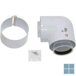 Vaillant bocht 90° alu/pp Ø 80/125mm voor condenserende ketels | VAI303210 | LAMO