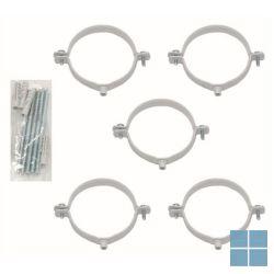 Vaillant bevestigingsbeugels (5 stuks) 200 mm Ø 60/100 | VAI303821 | LAMO