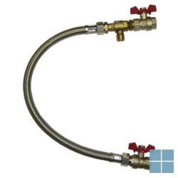 Vulset cv inox met cb klep 1/2 ff x 400mm | VCV12CB | LAMO