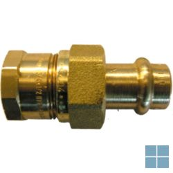 Viega profipress brons schroefkoppeling dia 22 x 3/4f | VR2234F | LAMO