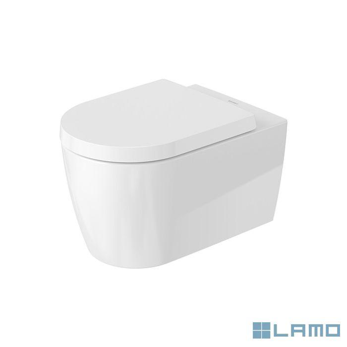 Dur. me by starck hangtoilet 57x37 cm rimless+softclose zitting wit keramiek | 45290900A1 | LAMO