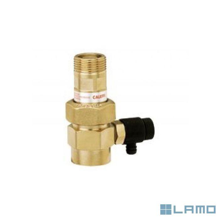 Caleffi kapventil met terugslagklep en aftap 6 bar 3/4   558510   LAMO