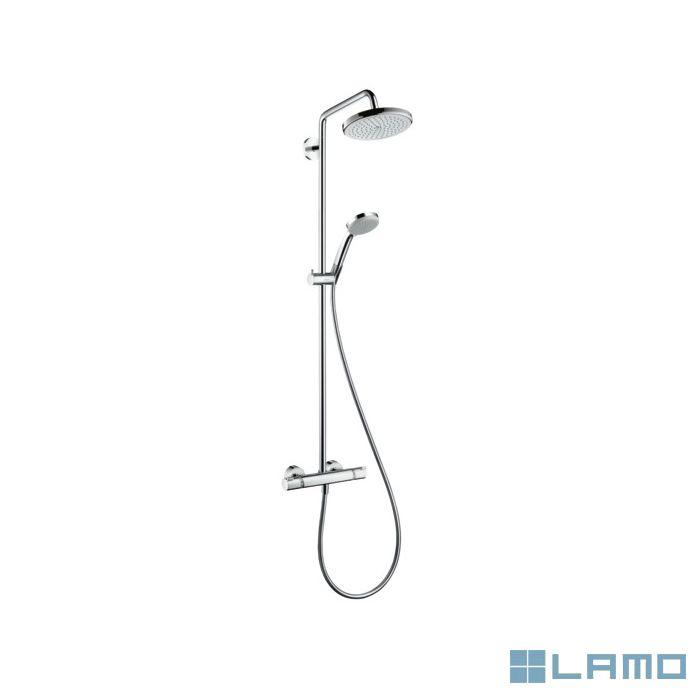 Hg croma 220 air showerpipe 1 jet chroom | HG27185000 | LAMO