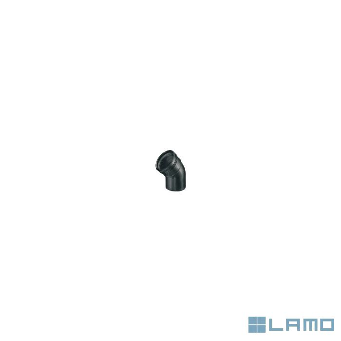 Wavin pp bocht zwart dia 50 45° m/f | WC5MF4 | LAMO